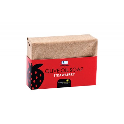 Eco Paper- Olive Oil Soap Strawberry 100g