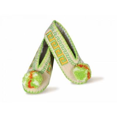Woollen Slippers- Green